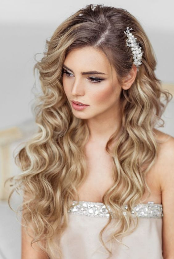Elstile long wedding hairstyle - Deer Pearl Flowers #wedding