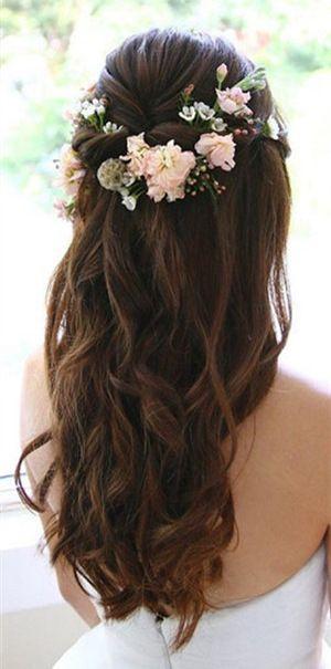 20 Amazing Half Up Half Down Wedding Hairstyle Ideas | Wedding