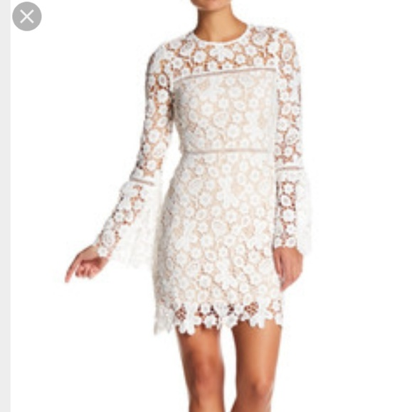 Just Me Dresses | White Floral Crochet Dress | Poshmark