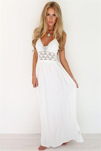 dress, white dress, white crochet dress, crochet dress, crochet