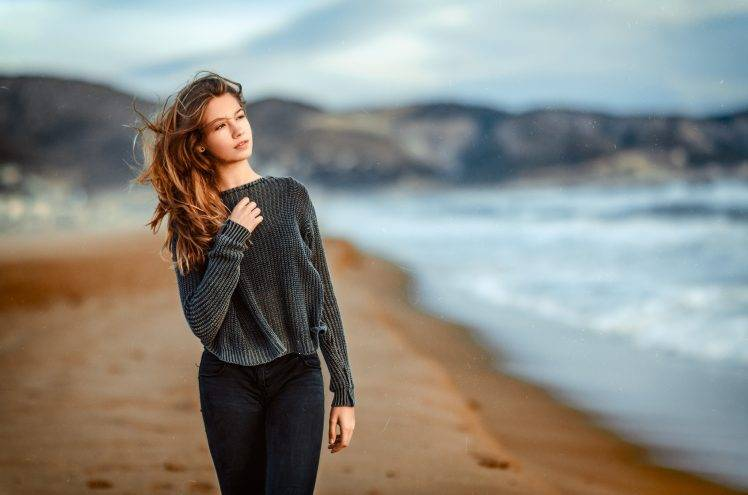 Gustavo Terzaghi, Women, Model, Long Hair, Women Outdoors, Wavy Hair