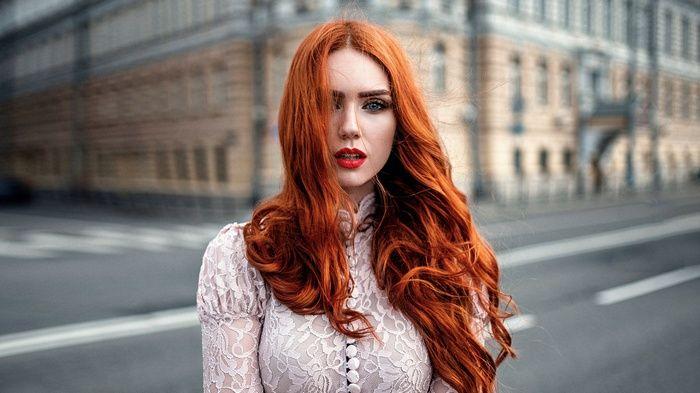 Georgy Chernyadyev, #building, #women, #long hair, #lace, #wavy hair