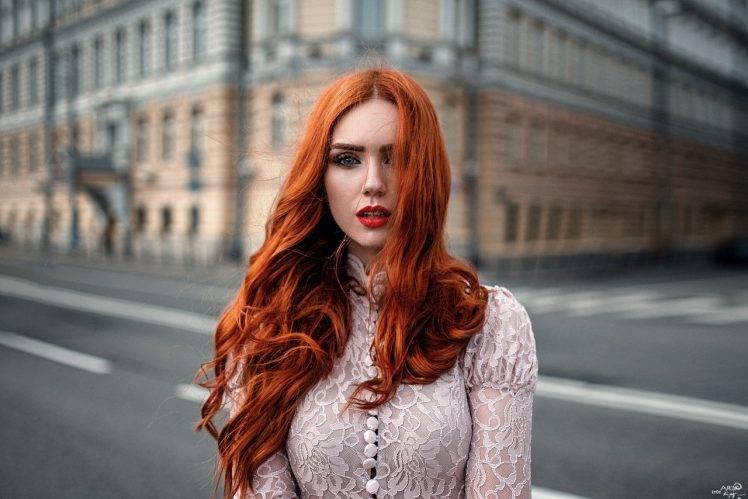women, Model, Redhead, Long Hair, Women Outdoors, Looking At Viewer