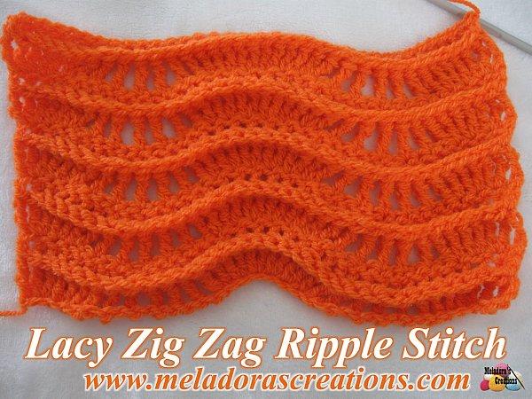 Lacy Zig Zag Ripple Stitch u2013 Free Crochet Pattern