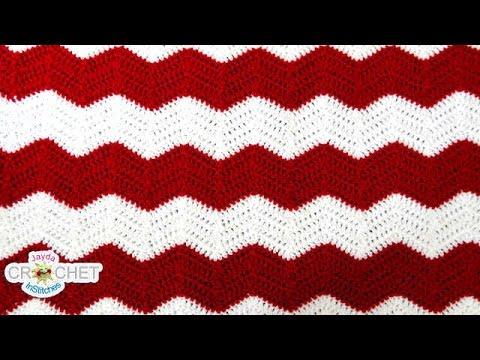 Crochet Chevron, Ripple, Zig Zag, Wave - Blanket Pattern - YouTube
