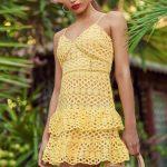 Yellow Crochet Dress for Elegant Girls