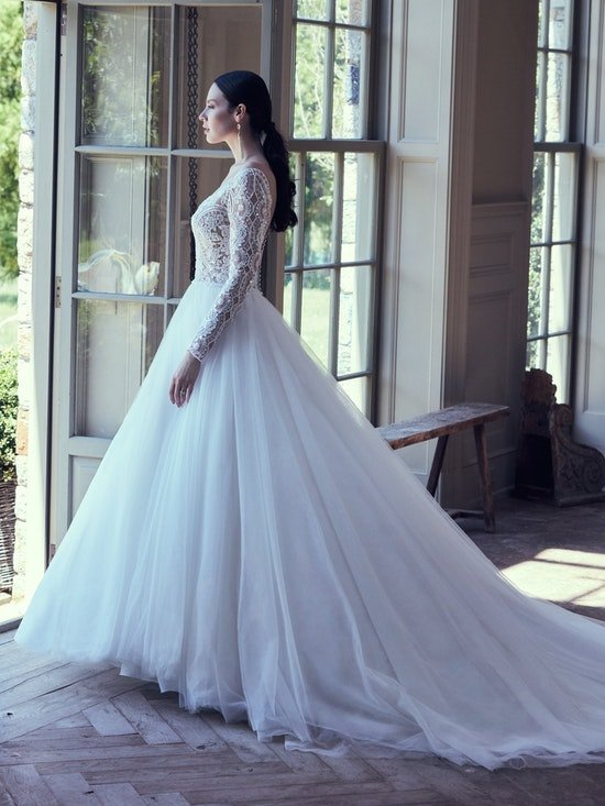 Mallory Dawn Long Sleeve Ball Gown Wedding Dress | Maggie Sotte