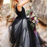 Stunning Variety of Bold Black and White Wedding Dresses