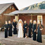 Black Long Sleeve Bridesmaid Dresses for Your Winter Season Wedding