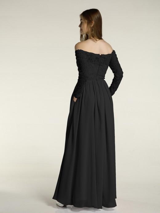 Black Long Sleeve Bridesmaid Dresses & Bridesmaid Gowns | BABARO