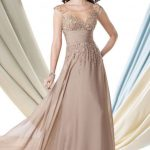 Stylish Champagne Mother of the Bride Dress in Modern Design
