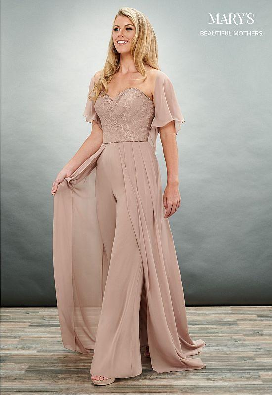 Mary's Bridal Size 12 MB8070 Champagne Mother of Bride Dress .