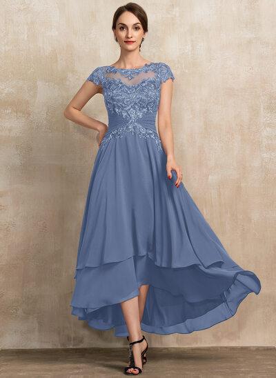Slate Blue, High Low Mother of the Bride Dresses   JJ's Hou