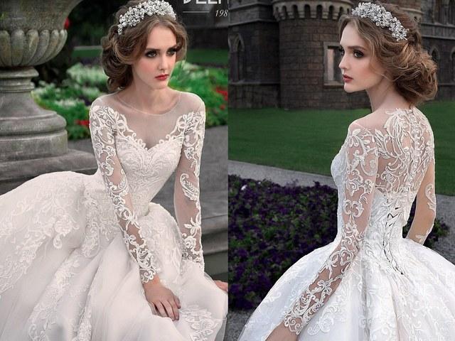 Long Sleeves Wedding Dresses from BELFASO - Deer Pearl Flowe
