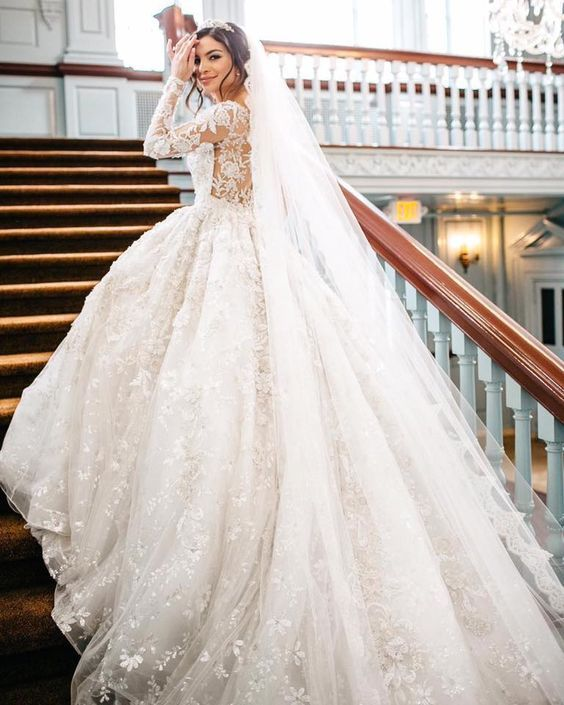 When You Love to Buy a Ball Gown Wedding Dress with Sleeves