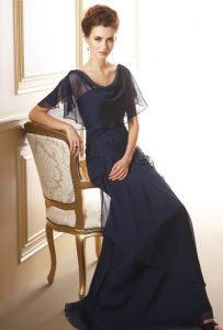Sophisticated, Navy Blue Mother of the Bride Dresses .