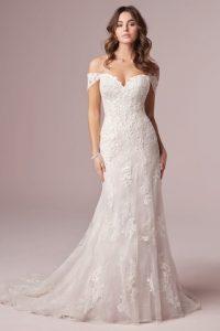 Off the Shoulder Wedding Dresses by Maggie Sotte