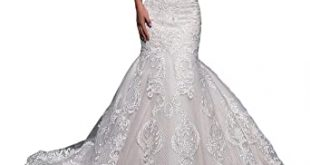 Amazon.com: Fenghauvip Mermaid Wedding Dress Off The Shoulder .