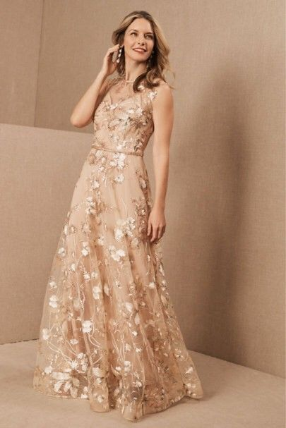 Rose Gold Mother of the Bride Dresses for Modern and Chic Moms