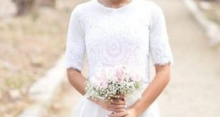 Wedding gown with sleeves simple 68 New ideas | Simple wedding .