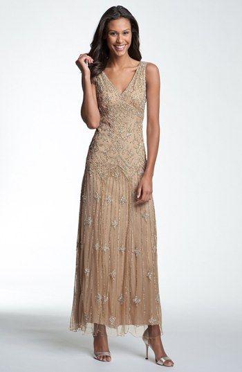 Pisarro Nights V-Neck Beaded Sequin Gown | Nordstrom | Boho mother .